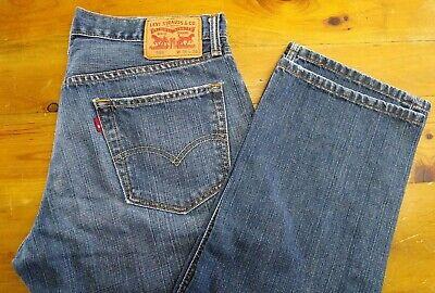 Levis 559 Mens Jeans 34 x 28.5 Relaxed Fit Straight Leg Medium Wash Blue Denim
