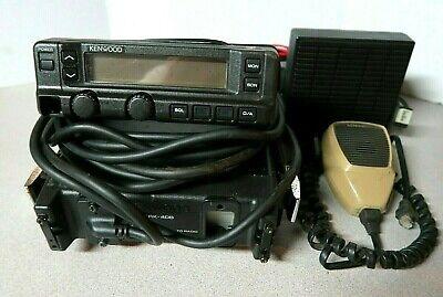 Kenwood Tk-630h Low Band Mobile Radio 35-43 Mhz Krk-4db Head Mic Speaker