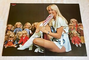 Abba 1976 Agnetha Fältskog with the Dolls - Sweden Swedish Poster Magazine 1970s