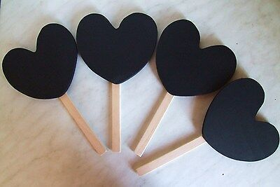 HEART SHAPED CHALKBOARD ON STICK, FOR FLORIST SHOP OR WEDDING PARTY