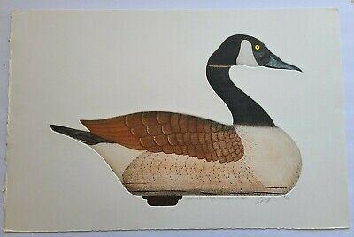 1965 Arthur Nevin Pencil Signed 'Canada Goose Decoy' Aquatint Etching #91/150