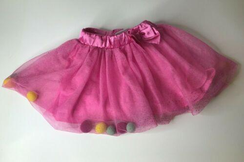 Peppa Pig Shimmery Pink Skort Skirt with Pompoms Size 5T