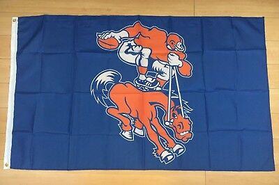 Denver Broncos Flag 3x5 ft Indoor/Outdoor Banner Retro Throwback Old School NFL