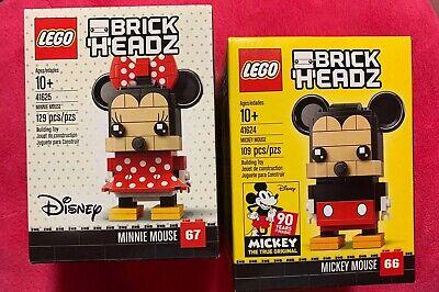 LEGO Brickheadz: Disney Mickey Mouse 41624 and Minnie Mouse 41625 NEW sealed box