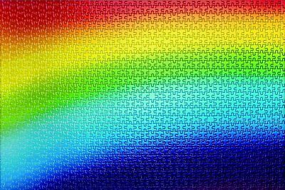 Epoch Jigsaw Puzzle 11-531 Rainbow Gradation I 1000 Pieces