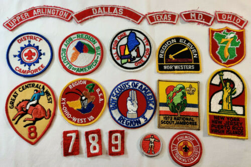 VINTAGE LOT OF BSA BOY SCOUTS OF AMERICA PATCHES 70s