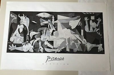 Pablo Picasso Guernica 1937 Black and White Figurative Animal Print Poster 11x14