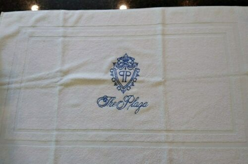 THE PLAZA HOTEL~NEW YORK AUTHENTIC BATH MAT WITH CREST FROM LATE 90