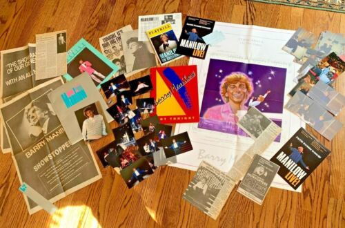 ONE OF A KIND - AWESOME BARRY MANILOW BUNDLE of AMAZING MEMORABILIA