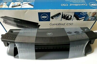 Gbc C50 Combbind Personal Binding Spiral Hole Punch Machine 7704100 New Open Box