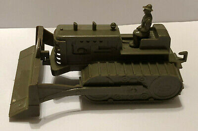 Vintage IDEAL ARMY BULLDOZER Military Corps of Engineers Army Toy 1950s
