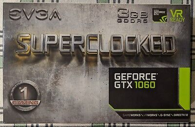 EVGA GeForce GTX 1060 SC Gaming 3GB Graphics Card (03G-P4-6162-KR)
