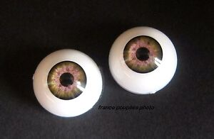 yeux-marron-vert-20mm-R70-poupee-MODERNE-vintage-bebe-realiste-Reborn-doll-eyes