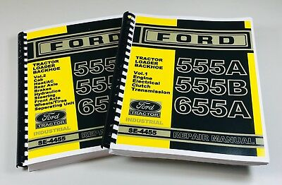 Ford 555a 555b 655a Tractor Loader Backhoe Service Repair Manual Se-4455