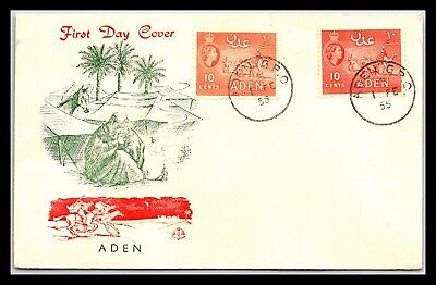 GP GOLDPATH: ADEN COVER 1955 FIRST DAY COVER _CV676_P03