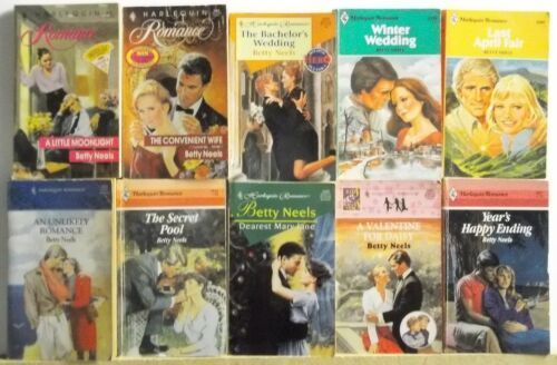 Lot of 10 Romance Books By BETTY NEELS FREE US S/H Read List Lot #H712