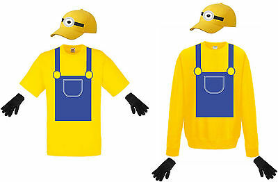arnevalszug Fasching Kostüm Gruppenkostüm für Minion Fans (Minion Gruppe Kostüme)