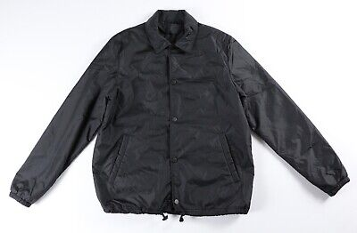 Acne Studios Black Tony Face Nylon Coaches Jacket EU 50 $299