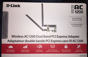 D-Link wireless AC1200 Dual Band PCIe Adapter