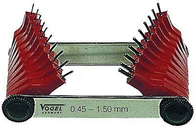 472201  Düsenlehre 0,45 - 1,50 mm  NEU VOGEL-GERMANY