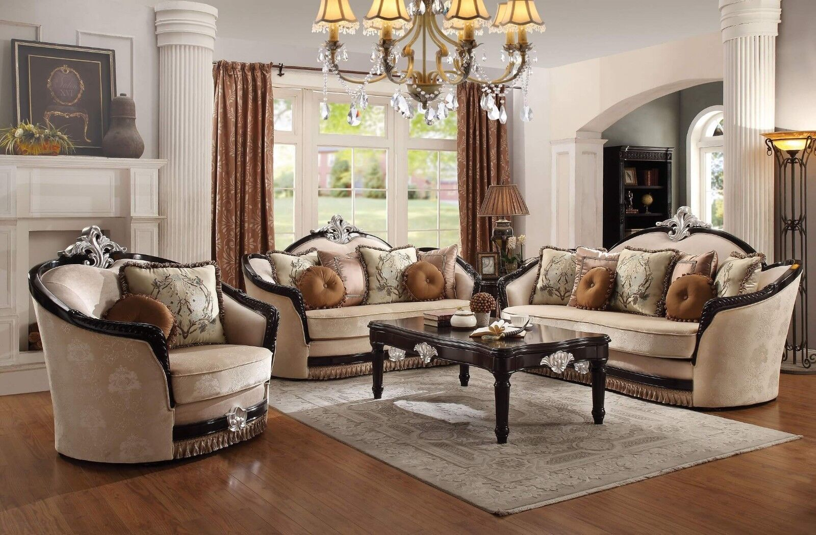 Acme Furniture Ernestine Sofa and Loveseat