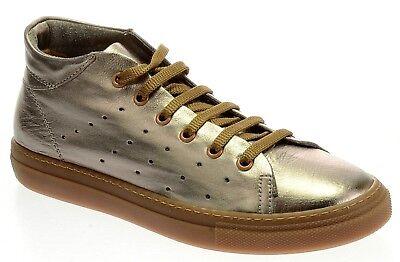 Dark Bronze Leder Schuhe (Darkwood Schuhe Sneaker Dark Bronze Metallic 8042 W 88PA Echtleder Neu Damen)
