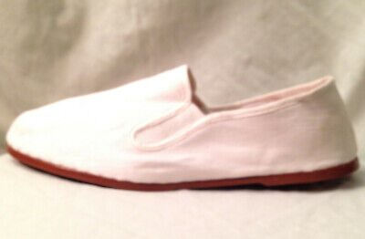 Gong Fu Kung Fu Shoes EU Sz 41 US Mens 8 Womens 10.5 White Canvas Martial Arts