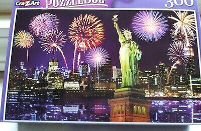 New 300 Piece Jigsaw Puzzle (Fireworks at Night NYC) Puzzlebug