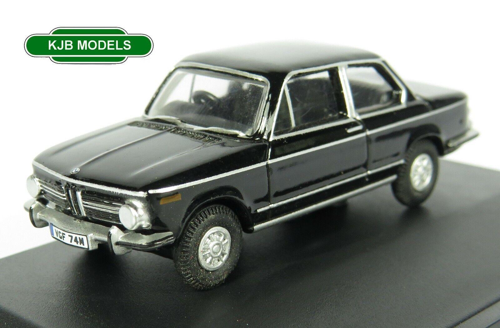 BNIB OO GAUGE OXFORD 1:76 76BM02004 BMW 2002 Black Car