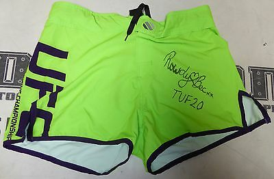 Rowdy Bec Rawlings Signed Personally Worn Used Tuf 20 Ufc Shorts Trunks Psa Dna