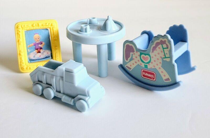 Vintage Playskool Dollhouse Furniture Accessories, Kids Toy Lot, Truck, Table