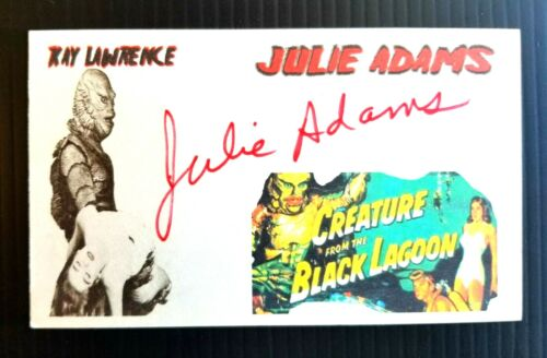 """CREATURE FROM THE BLACK LAGOON"" JULIE ADAMS AUTOGRAPHED 3X5 INDEX CARD"