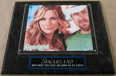 #1 FAN SUGARLAND FRAMED 8 X 10 PHOTO 12 X 15 WALL PLAQUE DISPLAY album cd