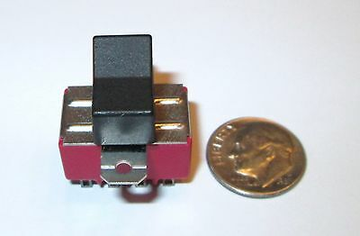 Ck 7401 Miniature Rocker Switch 4pdt On-on  Panelpc Mount  Nos 1 Pcs.