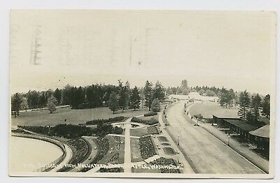 RPPC - Seattle, WA - VERY OLD 1917 VIEW FROM WATER TOWER OF VOLUNTEER PARK