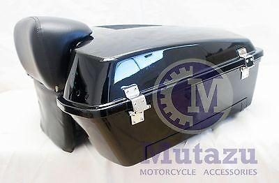 Vivid Black Chopped Tour Pak Trunk Pack for HD Harley Davidson touring models