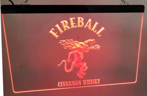 Fireball Cinnamon whisky LED Neon Sign for Game Room,Office, Bar,Man Cave Garage