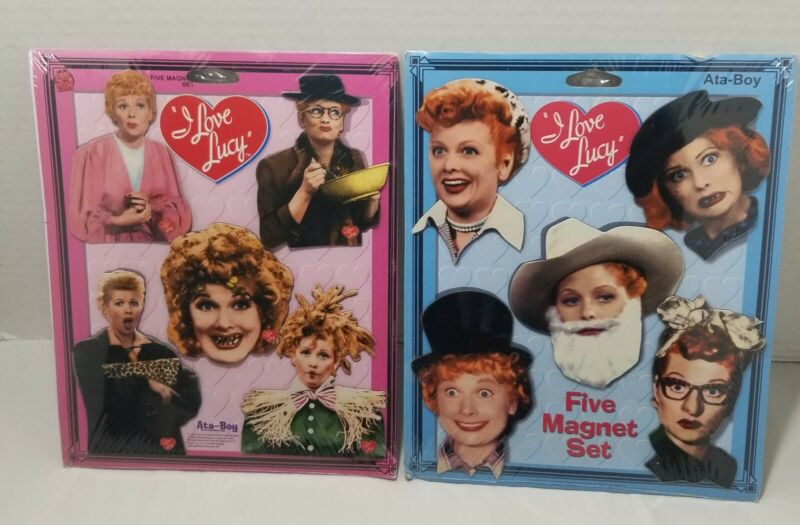 I Love Lucy TWO 5 Piece CollectableRefrigerator Magnet Sets,Total of 10 Magnets
