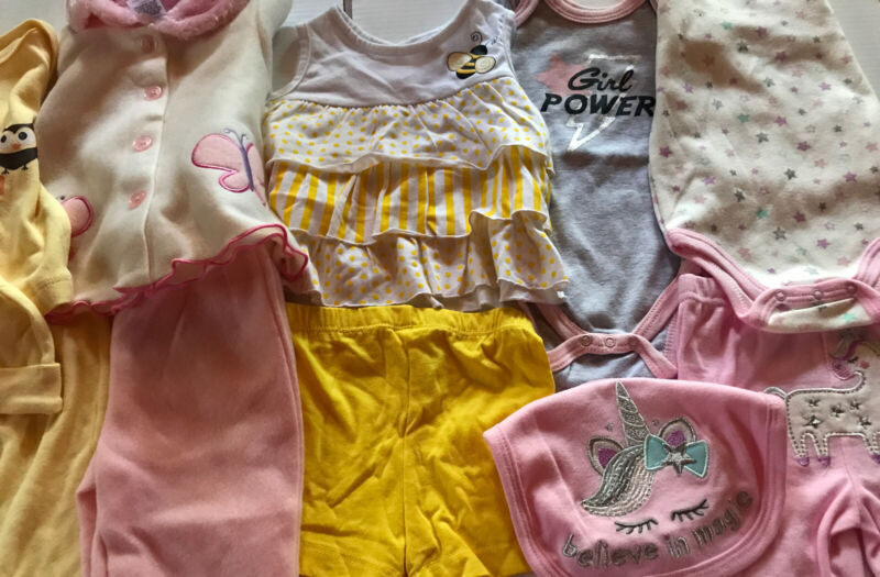 82) Lot Of 11 New Pcs Infant 3/6 Months Baby Girl Clothing Pants Outfits Magic