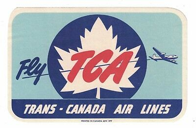 Trans Canada Air Lines    Vintage Luggage Label C 1950S