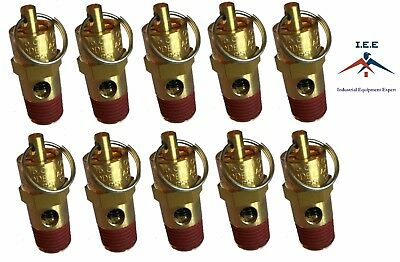 10 Pcs 14 Npt 135 Psi Air Compressor Safety Relief Pressure Valve Tank Pop Off