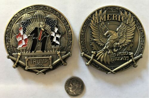 Donald Trump 2020 Keep America Great Gold Challenge Coin 45th #2  (Biden Harris)