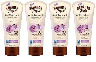 4 Hawaiian Tropic AntiOxidant + SPF 30 Sunscreen Lotion Green Tea Extract 6 -