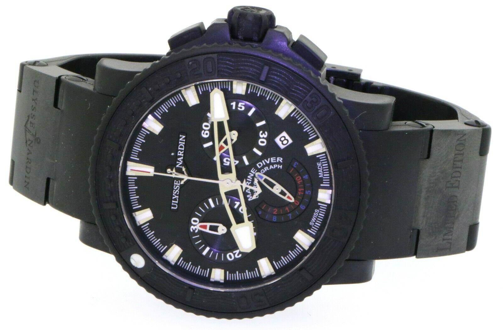 Ulysse Nardin Black Sea Marine Diver 353-92 PVD 45mm auto. chrono. men's watch - watch picture 1