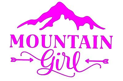 - Mountain Girl Vinyl Decal - Hiking Bumper Sticker - Window Decal