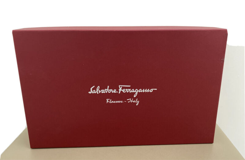 Ferragamo Empty Storage Shoe box  Red 13.5x8.5x5