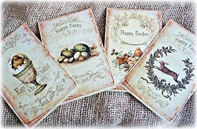 4 Large Vintage Style Easter Cards & C6 envelopes - 15.5cm x 10cm