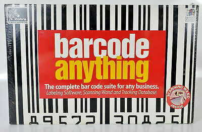Zebra Barcode Anything Suite Scanning Wand Software Manual New Unopened