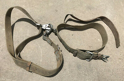 Vintage Klein Tools Lineman Pole Climbing Belt And Safety Strap 1979