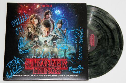STRANGER THINGS CAST x10 SIGNED VINYL SOUNDTRACK LP ALBUM MILLIE BOBBY BROWN JSA